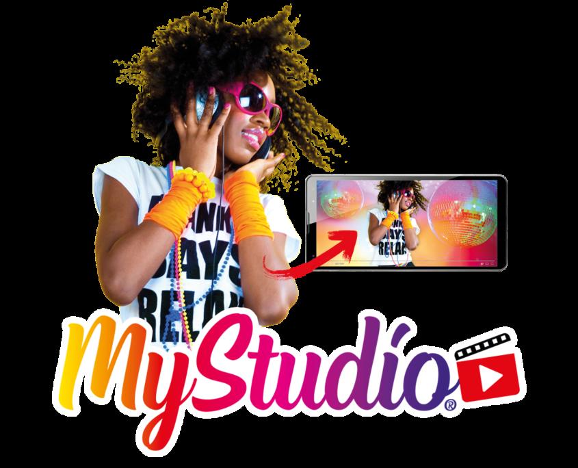 MyStudio logo with dancing girl